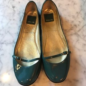 Dolce Vita Teal Patent Leather Mary Janes